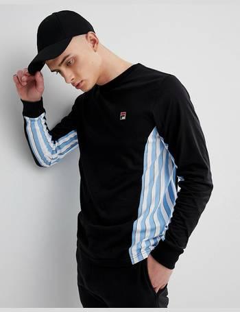 d3dc0b8e994b Fila. Vintage Long Sleeve T-Shirt With Stripe Panel ...