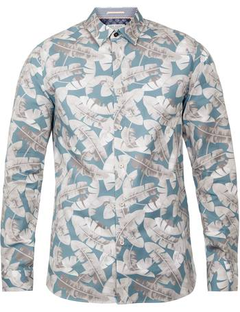 28a60fe4 Men's Ted Baker Ramseys Leaf Print Cotton Shirt from House Of Fraser
