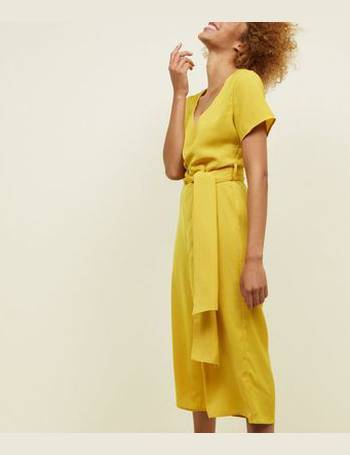 8b73c22762 Mustard Button Front Culotte Jumpsuit New Look from New Look. Quick View · Cameo  Rose