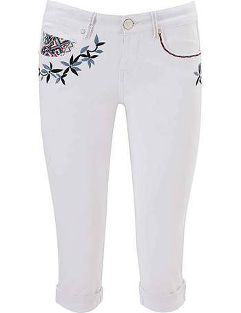 Joe Browns Womens Cropped Daisy Floral Capri Pants