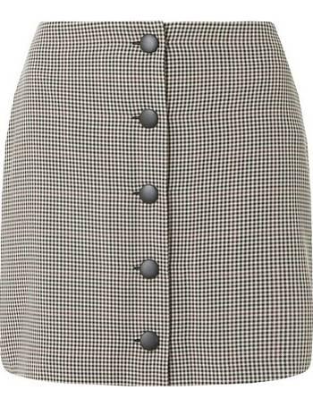 645f9dd9ab1 Womens Petite Grey Check Print Mini Skirt- Red from Dorothy Perkins