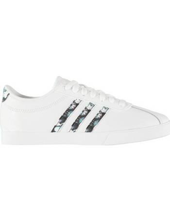 Adidas White Courtset Floral Stripe