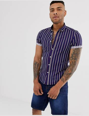 2892562d3a Shop ASOS DESIGN Mens Shirts up to 75% Off | DealDoodle