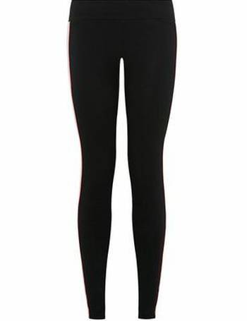 91f590fb95858 Girls Black Neon Piped Side Stripe Leggings New Look from New Look