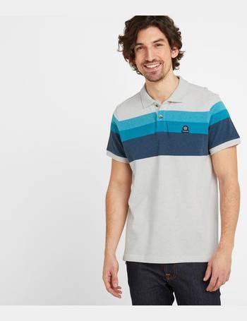 Tog 24 Patrick Mens Stripe Polo Shirt Light Blue