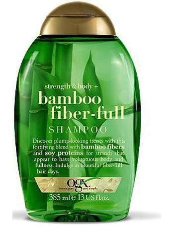 05c6298b8 OGX. Strength & Body + Bamboo Fiber-Full Shampoo. from Boots
