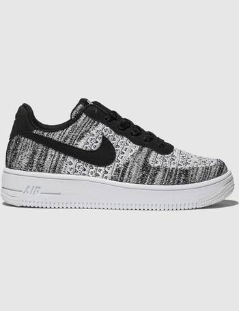 df3becc81b Grey & Black Air Force 1 Flyknit 2.0 Trainers Youth from Schuh