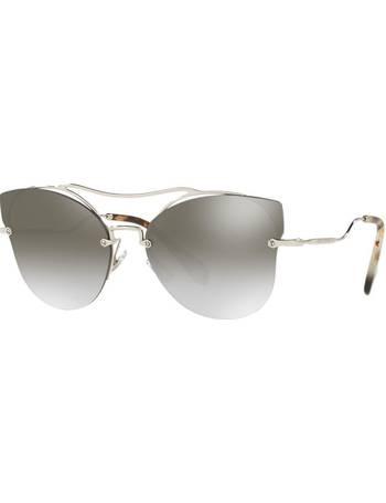 796da0f6019 Miu Miu. Mu 52ss 62 Silver Butterfly Sunglasses. from Sunglass Hut Uk