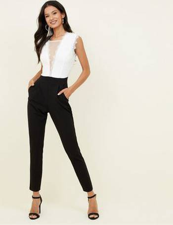 11e2ba5b1075 Black Lace V Neck 2 in 1Jumpsuit New Look from New Look. Quick View · Cameo  Rose