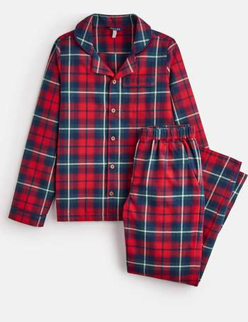 Joules Boys Goodnight Woven Pj Set in RED CHECK