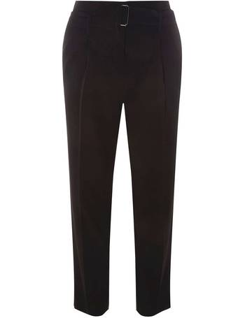 Womens Black Tapered Slider Trousers- Black from Dorothy Perkins