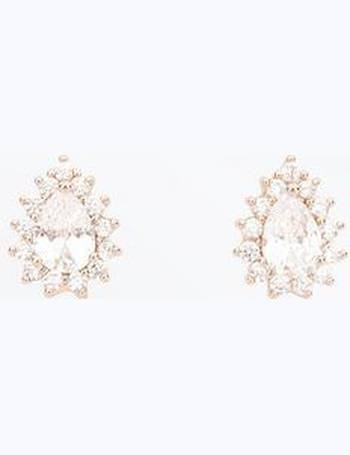 49a58369a Rose Gold Cubic Zirconia Teardrop Stud Earrings New Look from New Look