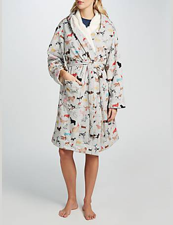 5f54ea1679 Joules. Idlewhile Party Dog Fleece Lined Dressing Gown