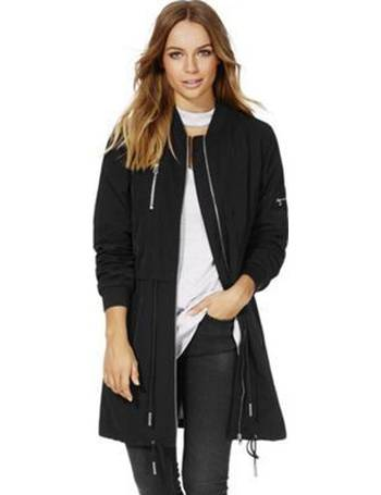 b78c8c7b36145 Shower Resistant Long Line Bomber Jacket from Tesco F&F Clothing