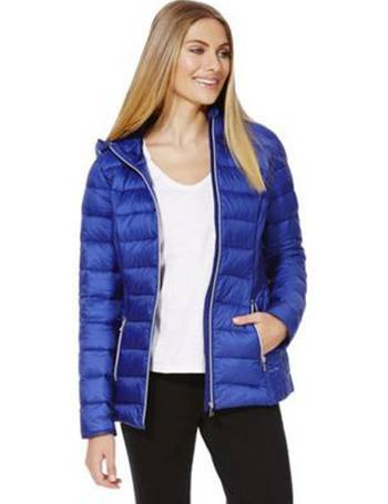 574903813 Packable Downfill Padded Hooded Jacket