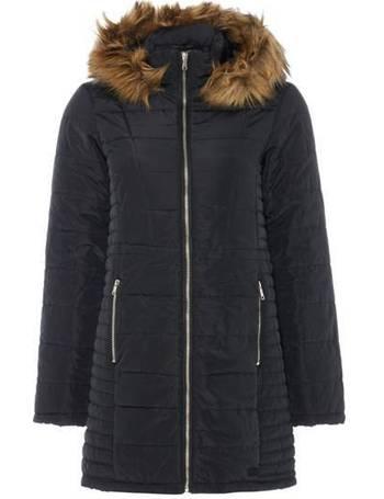 ALEXIS WET LOOK COAT BLACK