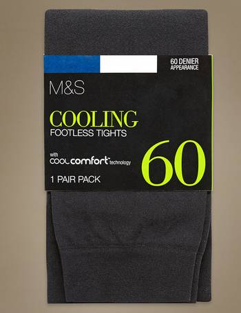 64c86c9aa 60 Denier Cool Comfort Opaque Footless Tights from Marks   Spencer