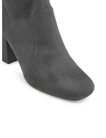 17a26fecfa9 Womens KITTIE Grey Over The Knee Boots