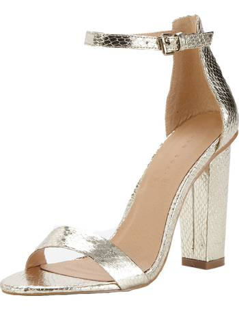91374062f52 Shoe Box. Daisy High Block Heeled Ankle Strap Sandals
