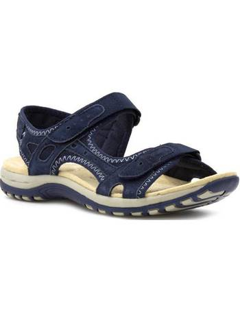9ee89af109 Earth Spirit. Womens Leather Sporty Sandal in Navy. from Shoe Zone