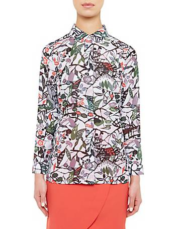 da95aec0beeafd Colour By Numbers Lupia Peter Pan Collar Floral Print Shirt from John Lewis