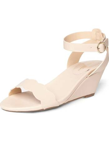427b4fdc60c Womens Wide Fit Nude  Wavy  Wedge Shoes- White from Dorothy Perkins