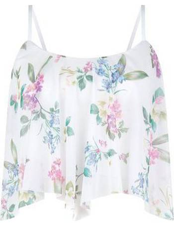 12eff29fb75 Shop Women's New Look Floral Crop Tops up to 70% Off | DealDoodle