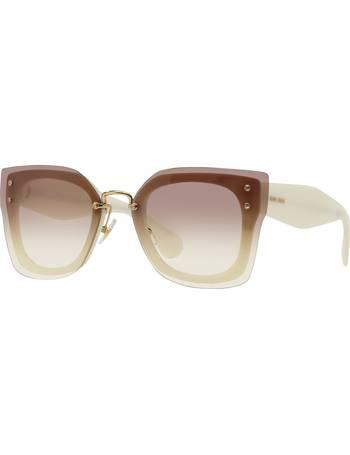 9e66f0a2dc27 Shop Miu Miu Women's Frame Sunglasses up to 30% Off   DealDoodle