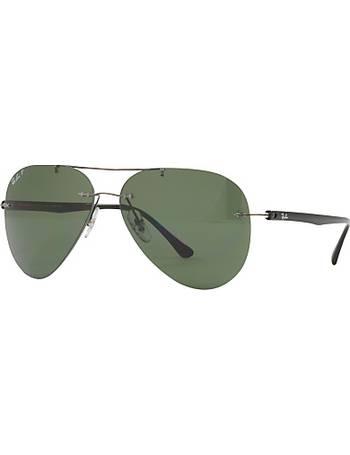 27730ed73272d Ray-ban. RB8058 Polarised Frameless Aviator Sunglasses. from John Lewis