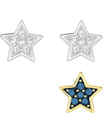 ec167ba8e477 Swarovski. Star pierced earring set. from House Of Fraser