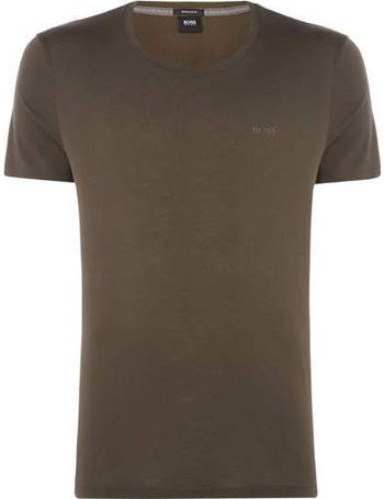 705c5085 Men's Hugo Boss Tiburt liquid logo crew neck t-shirt from House Of Fraser