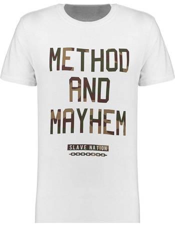 Men/'s Slave Nation Method and Mayhem Short Sleeve T Shirt