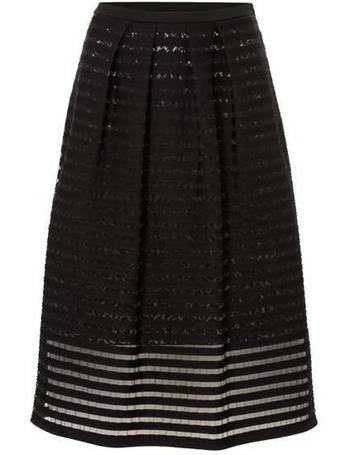 4c5b2b9b17 Max Mara. Slogan stipe mesh skirt with lace underlay. from House Of Fraser