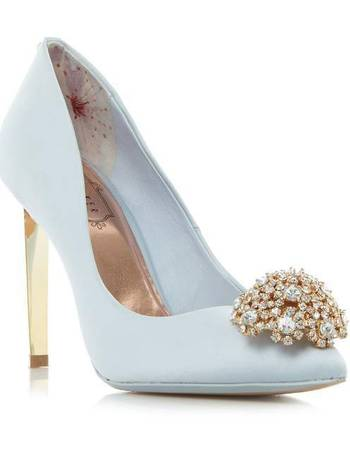 6dad81f52f3c05 Ted Baker. Peetch jewel trim pointed court shoe. from House Of Fraser