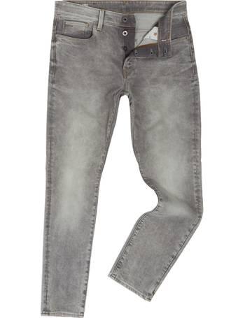 acda7d046 Men's G-Star 3301 Kamden Grey Stretch Denim Tapered Jeans from House Of  Fraser
