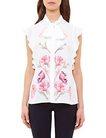 7caab41e7a3300 Ted Baker. Brownee Sketchbook Floral Pussycat Bow Blouse