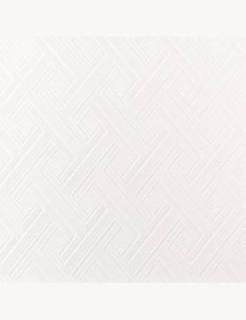 Graham Brown Superfresco White Diagonal Fan Paintable Wallpaper From BQ