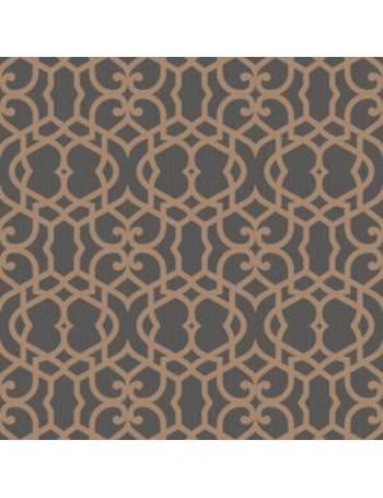 BQ Marrakech Chocolate Fretwork Textured Wallpaper