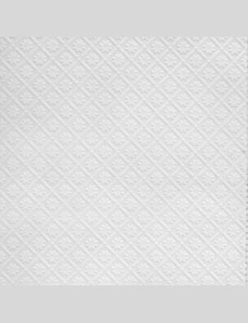 Anaglypta Luxury White Amber Textured Paintable Wallpaper From BQ