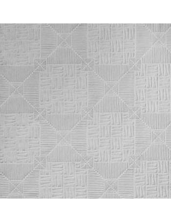 Supaglypta White Inca Textured Paintable Wallpaper From BQ