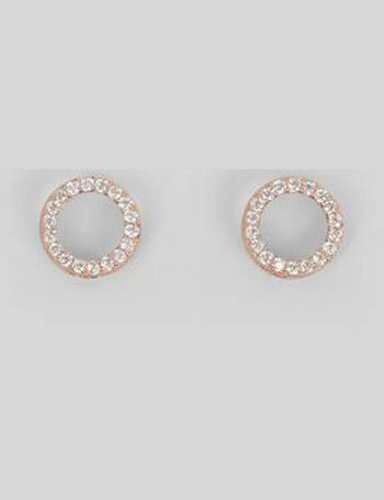 d6d157699 Rose Gold Cubic Zirconia Circle Stud Earrings New Look from New Look