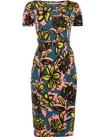 64f752e669 Max Mara. Caneva short sleeve floral fitted dress with belt. from House Of  Fraser