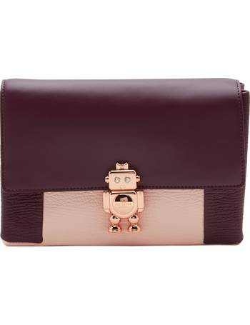 c2bd07956961 Ted Baker. Jemms Leather Robot Lock Cross Body Bag. from John Lewis