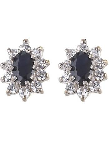 09755a770 9ct Gold Sapphire Cubic Zirconia Stud Earrings from H Samuel