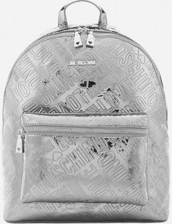 10454b435dcaf Love Moschino. Women s Metallic Embossed Logo Backpack