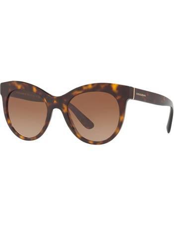 b397d578bf27 Dolce & Gabbana Dg4311 51 Brown Oval Sunglasses from Sunglass Hut Uk
