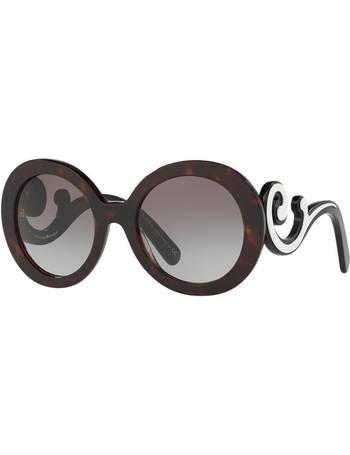 4725ffb238ea Shop Women's Prada Round Sunglasses up to 40% Off | DealDoodle