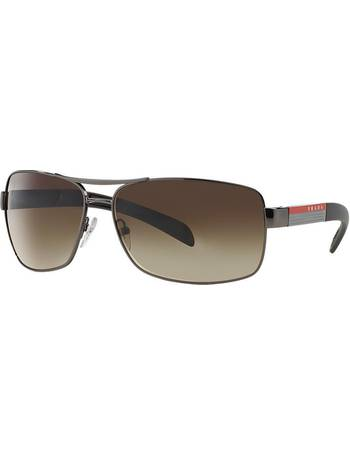 d7e6aa3f0cb7a Prada Linea Rossa. Ps 54is Gunmetal Rectangle Sunglasses