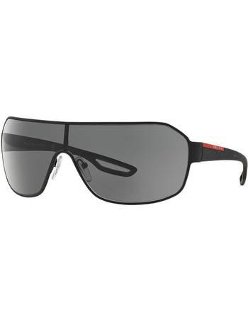 983b8a8e683 Prada Linea Rossa. Ps 52qs 37 Black Rectangle Sunglasses. from Sunglass Hut  Uk