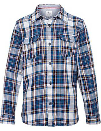 Fat Face Boys Daniel Multi Square Shirt